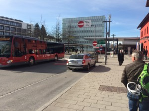 "Der Bus-""Bahnhof"" liegt direkt neben dem Zug-Bahnhof @Dornbirn"